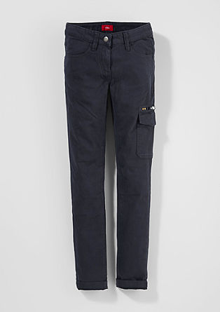 Skinny Suri: cotton trousers from s.Oliver