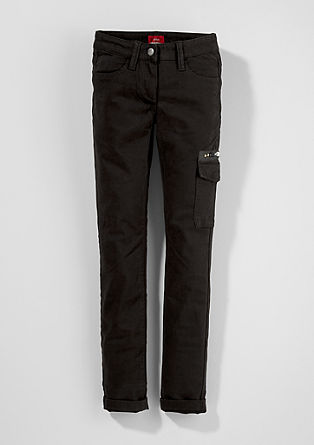 Skinny Suri: Embroidered cotton trousers from s.Oliver