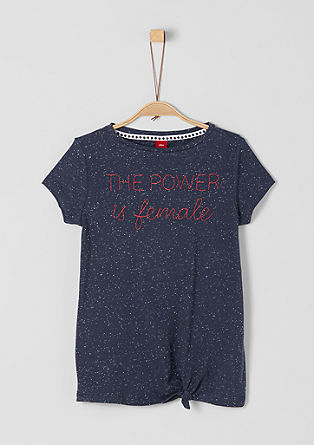 T-shirt with statement embroidery from s.Oliver