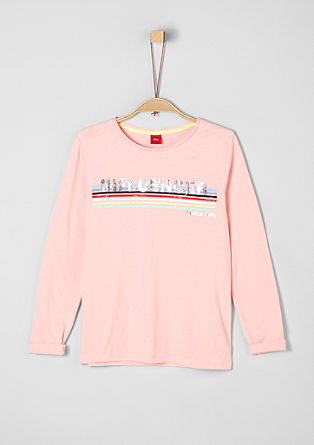 Long sleeve top with statement lettering from s.Oliver