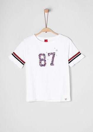 Športna majica z lesketajočimi se bleščicami