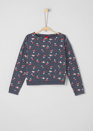 Sweatshirt met all-over print