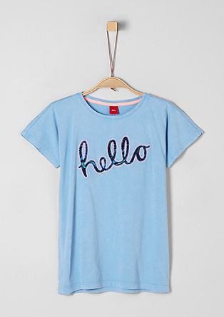 T-shirt with appliquéd lettering from s.Oliver