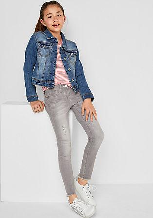 Skinny suri: destroyed jeans met 7/8-pijpen