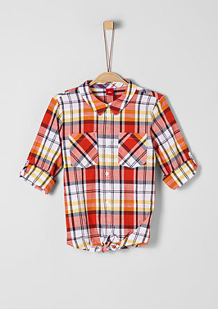 Checked knotted blouse from s.Oliver