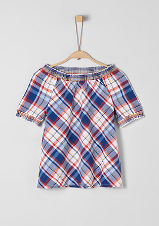 Carmen blouse with a check pattern from s.Oliver
