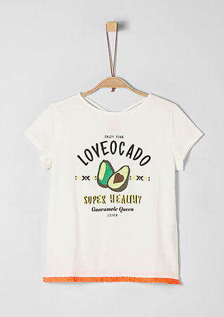 T-shirt met avocado-artwork