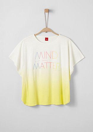 Barvita majica škatlastega kroja