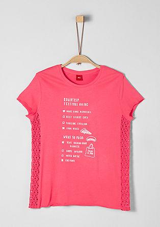 Jerseyshirt mit Spitzen-Insert