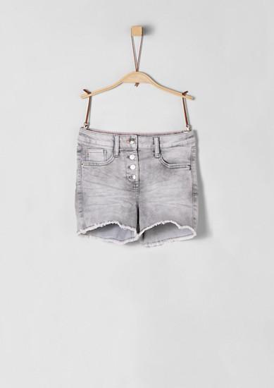 Skinny Suri: Shorts mit Knopfleiste