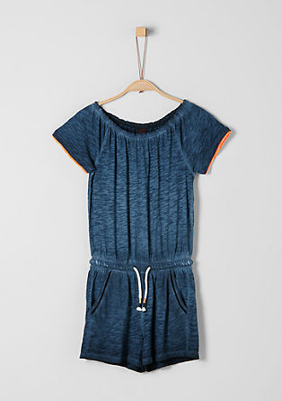 Slub Yarn-Jumpsuit in Pigment Dye