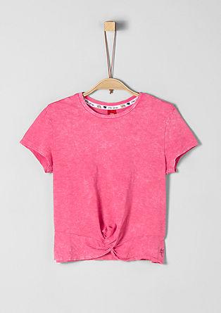 pruhované tričko s drapováním
