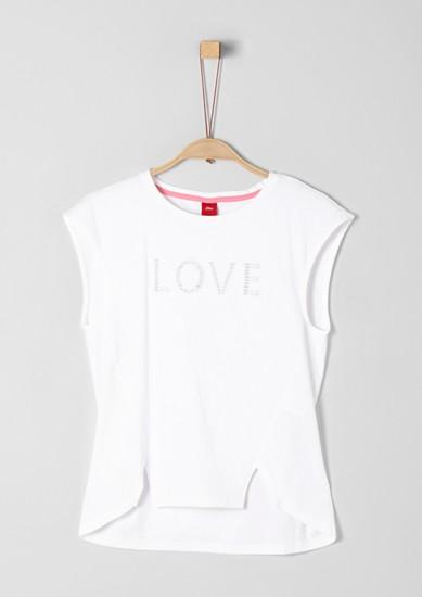 Jerseyshirt mit Lochmuster-Wording