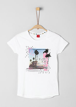 Jersey tee with a photo print from s.Oliver