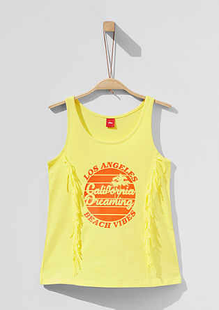 Tank top with a special effect print from s.Oliver