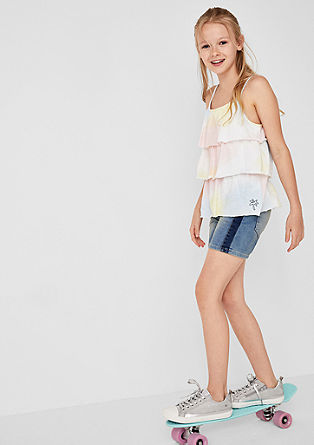 Skinny suri: casual denim short