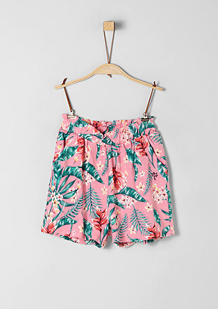 Jersey shorts with floral pattern from s.Oliver