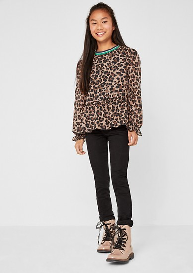 Blouse with a leopard print pattern from s.Oliver