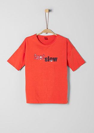 T-Shirt mit Metallic-Pailletten