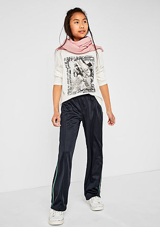 Tracksuit bottoms with tuxedo stripes from s.Oliver