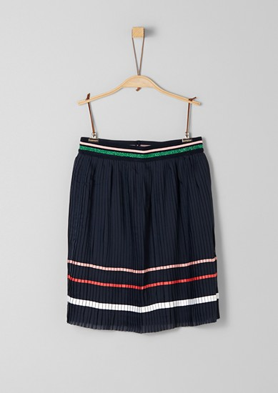 Pleated skirt with stripes from s.Oliver