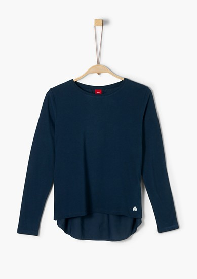 Fabric mix long sleeve top from s.Oliver
