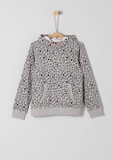 Gemustertes Kapuzen-Sweatshirt