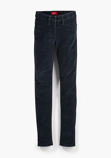 Skinny Suri: corduroy trousers from s.Oliver
