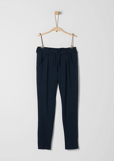 Trousers with waist pleats in a tracksuit bottoms style from s.Oliver