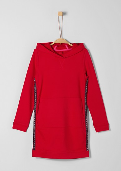 Sweatshirt dress with tuxedo stripes from s.Oliver