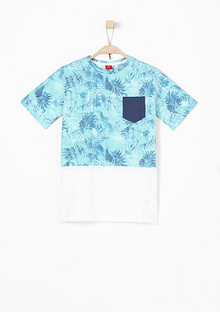 Flammgarnshirt mit Tropical-Print