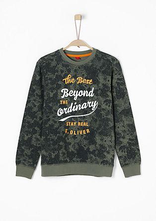 Sweatshirt mit Retro-Print