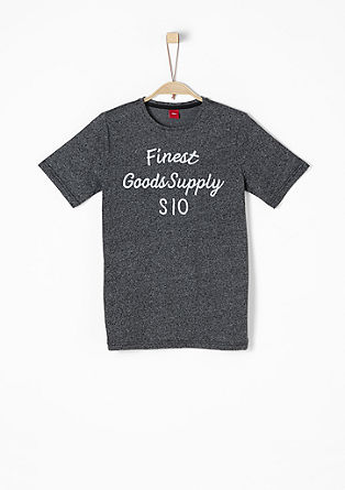 Besticktes Melange-Shirt