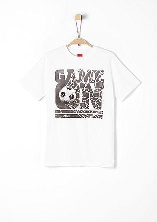WM-Shirt mit Fußball-Fotoprint