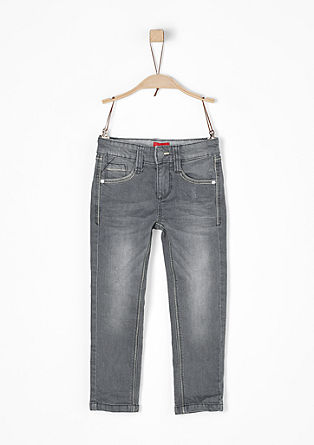 Brad: grey stretch jeans from s.Oliver