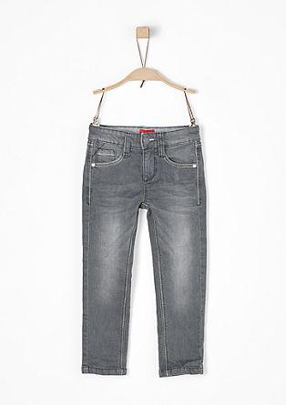 Brad: sive raztegljive jeans hlače