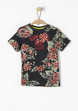 Jersey-Shirt mit sommerlichem Print