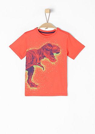 T-Shirt mit gummiertem Dino-Print