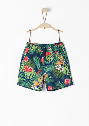 Swimming trunks with botanic print from s.Oliver
