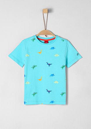 Žerzejové tričko snatištěným dinosaurem