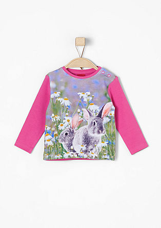 Long sleeve top with a rabbit print from s.Oliver