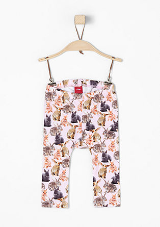 Leggings with rabbit print from s.Oliver