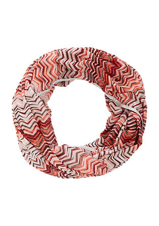 Breezy snood with a printed pattern from s.Oliver