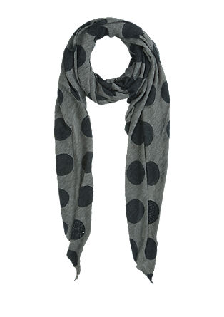 Woven scarf with large polka dots from s.Oliver