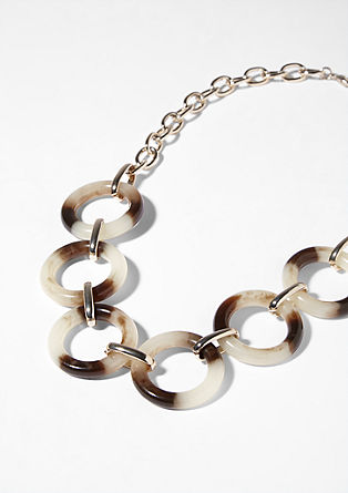 Link chain with plastic rings from s.Oliver