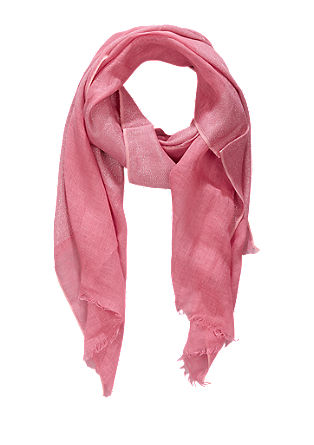 Linen scarf with a shine effect from s.Oliver