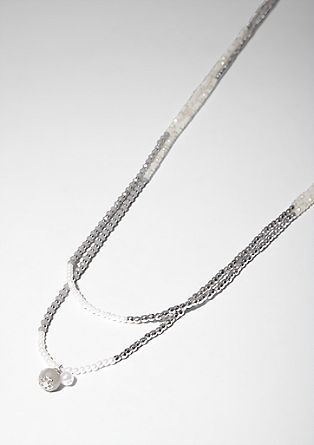 Two-strand decorative bead necklace from s.Oliver