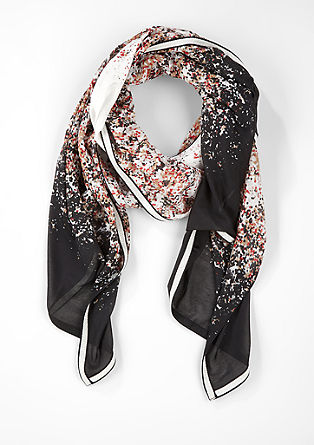 Patterned scarf with a glitter border from s.Oliver