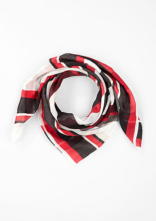 Square scarf with an all-over print from s.Oliver