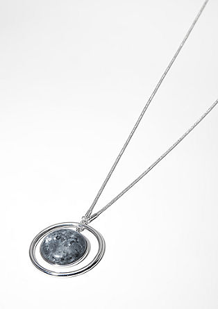 Necklace with a gemstone pendant from s.Oliver